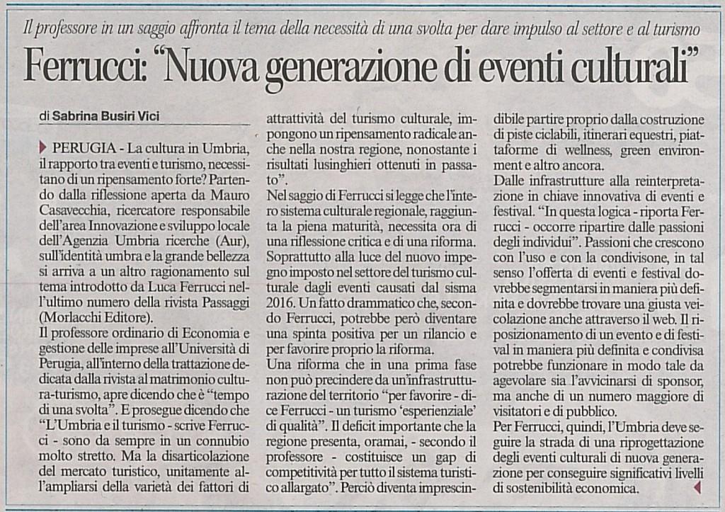 articolo Corriere dell Umbria 22 gennaio 18